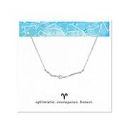 Aries Zodiac Birthstone Silver Constellation Necklace