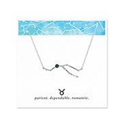 Taurus Zodiac Birthstone Silver Constellation Necklace