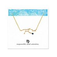 Virgo Zodiac Birthstone Gold Constellation Necklace