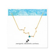 Sagittarius Zodiac Birthstone Gold Constellation Necklace