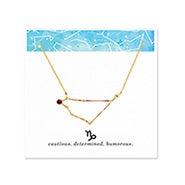 Capricorn Zodiac Birthstone Gold Constellation Necklace