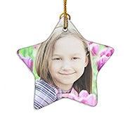 Holiday Star Custom Photo Ornament