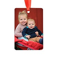 Vertical Rectangle Custom Photo Ornament