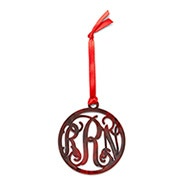 Acrylic Fancy Script Monogram Ornament
