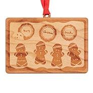 Grandma's Cookie Tray Custom Wood Ornament