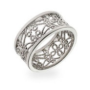 Silver Vintage Style Filigree Band