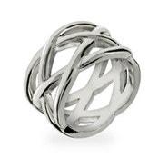 Designer Style Sterling Silver Celtic Knot Ring