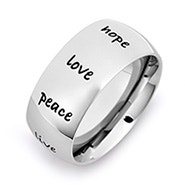 Engravable Stainless Steel Inspirational Ring