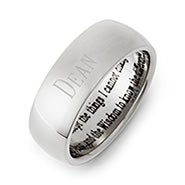 Men's and Women's Stainless Steel Serenity Prayer Ring