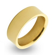 Gold Plated 7mm Engravable Steel Band