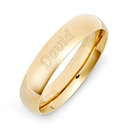 Gold Plated 5mm Comfort Fit Band