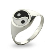 Sterling Silver Yin Yang Ring
