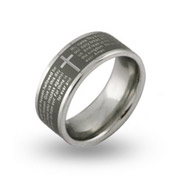 Lord's Prayer Engravable Message Ring
