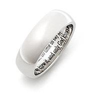 Engravable Stainless Steel Bereavement Prayer Ring