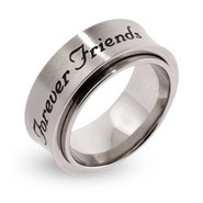 Forever Friends Engraved Spinner Ring