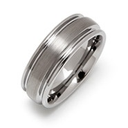Brushed Finish Engravable Tungsten Band
