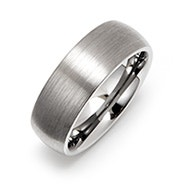 Men's 8MM Brushed Engravable Tungsten Band