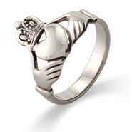Sterling Silver Irish Claddagh Wedding Ring