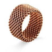 Designer Style Rose Gold Mesh Ring
