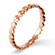 Rose Gold Band of Hearts Stackable Band