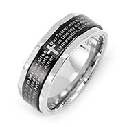 Engravable Stainless Steel Lord's Prayer Spinner Ring