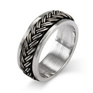 Sterling Silver Braided Design Spinner Band