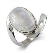 Vampire Inspired Sterling Silver Moonstone Ring