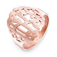 Rose Gold Custom Monogram Ring