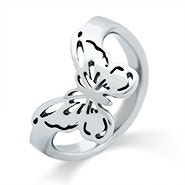 Butterfly Cut Out Thumb Ring