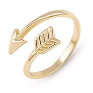 Gold Arrow Midi Ring