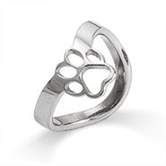Paw Print Cut Out Thumb Ring