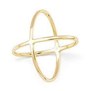 Double X Gold Ring - The It Ring