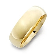 Engraved Couple's 6mm Gold Message Ring