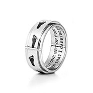 Footprints in the Sand Spinner Ring