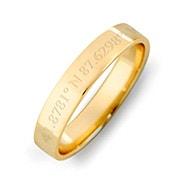 Custom Coordinate 4mm Gold Ring