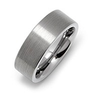 Men's 8mm Brushed Tungsten Ring