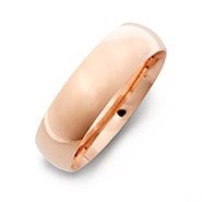 Classic 6mm Rose Gold Plated Wedding Band