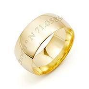 Custom Coordinate 8mm Gold Band