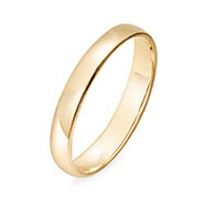 Engravable 14k Gold 3mm Classic Wedding Band
