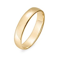 Engravable 14k Gold 4mm Classic Wedding Band