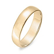 Engravable 14k Gold 5mm Wedding Band