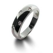 Designer Style Twinkling White CZ Ring