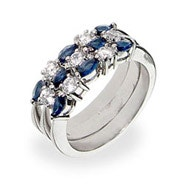 Sterling Silver Sapphire Stackable Ring Set