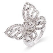Celebrity Inspired CZ Butterfly Ring
