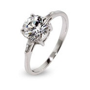 Brilliant Round CZ Engagement Ring