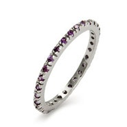Amethyst CZ Eternity Band