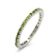 Peridot CZ Eternity Band