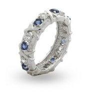 Designer Style Sapphire CZ Sixteen Stone Ring