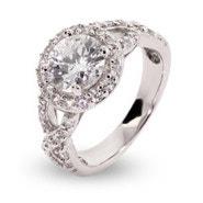 Halo Round CZ Vintage Ring