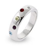 Custom 5 Stone Family Birthstone Twinkling Ring